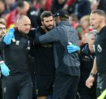 Alisson out for next few weeks, says Klopp