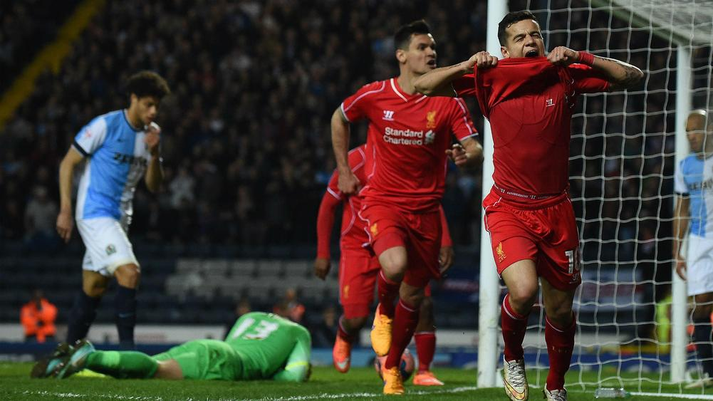 21c35ecd18ab Blackburn Rovers 0 Liverpool 1: Phillippe Coutinho Sends Reds Through to FA  Cup Semis
