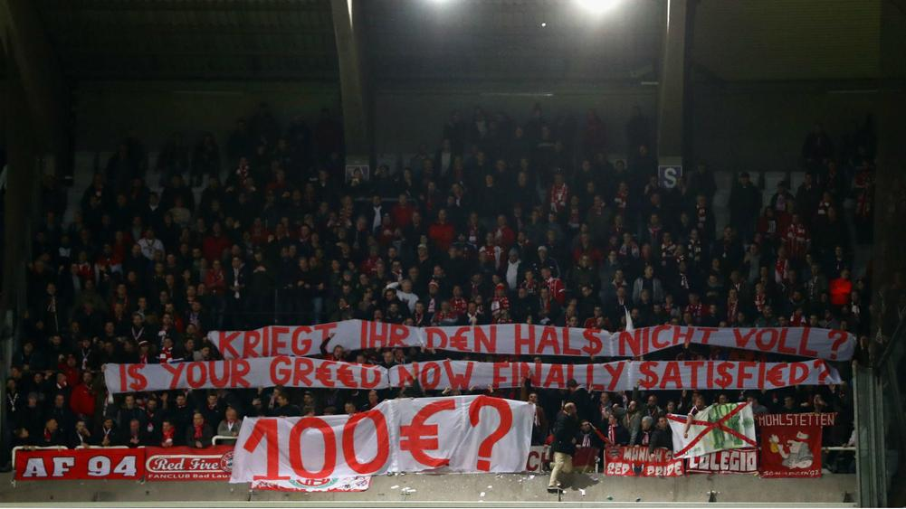 Bayern fans unhappy with Champions League ticket prices