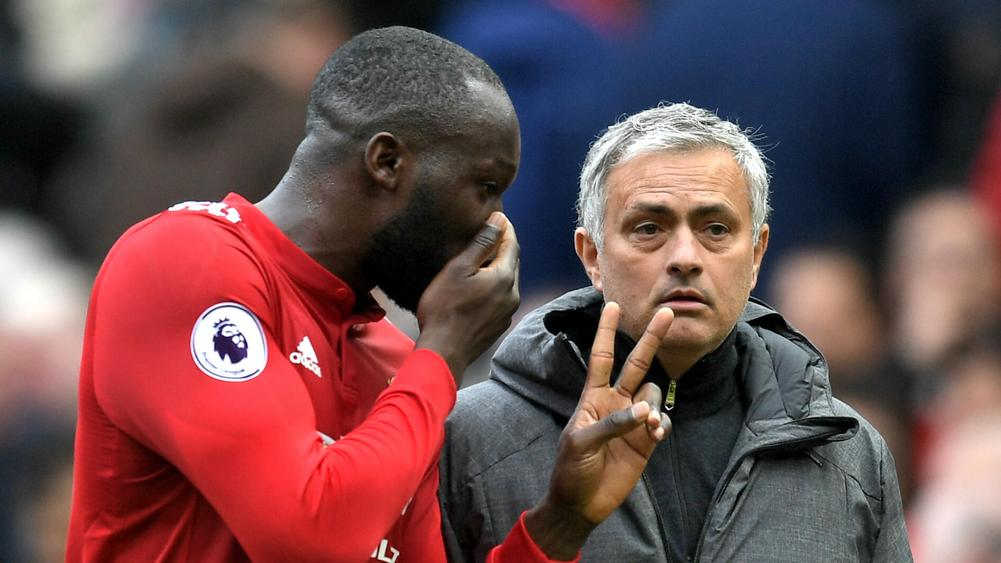Romelu Lukaku and Jose Mourinho