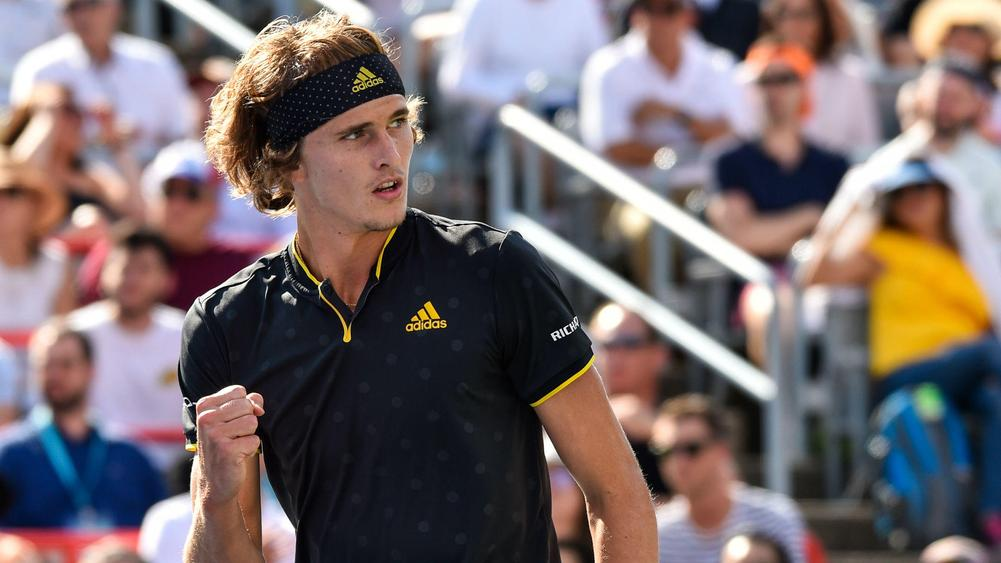 Image result for Alexander Zverev thrashes Roger Federer to win Roger Cup title