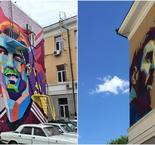 Face-off! Messi gets mural next to Ronaldo's in Kazan