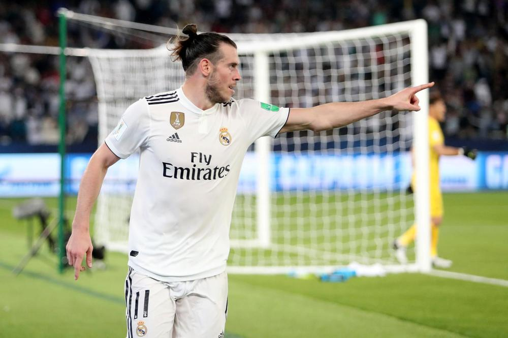 9a111f7ab Real Madrid s Gareth Bale celebrates scoring goal against Kashima Antlers in  the semi-final of