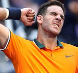 Del Potro continues to impress, Murray bows out