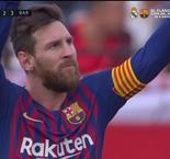 Sevilla 2-3 Barcelona: Messi Completes His Hat-Trick With Late Chip