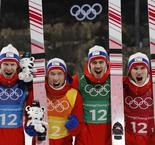 Flying moustache' leads Norway to Olympic ski jump gold