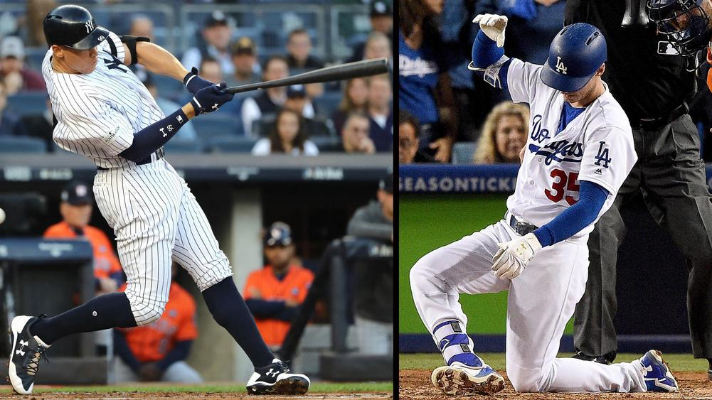 Aaron Judge (left) and Cody Bellinger (right)