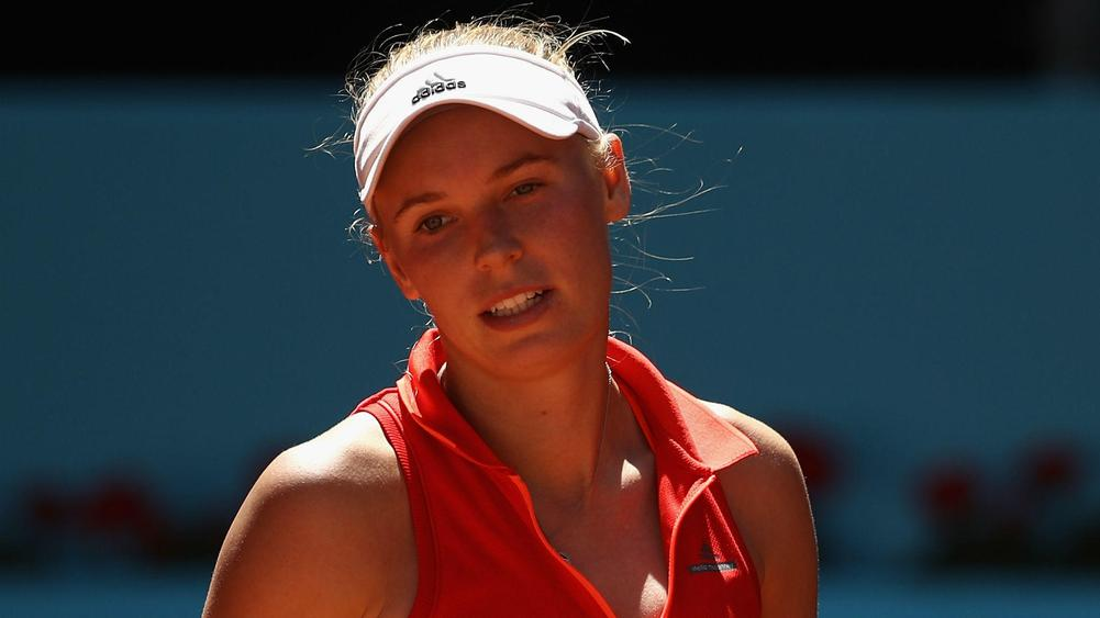 Caroline Wozniacki forced to retire in Strasbourg a week before French Open