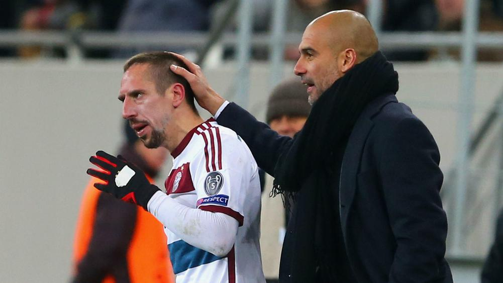 guardiola tips ribery to extend bayern stay. Black Bedroom Furniture Sets. Home Design Ideas
