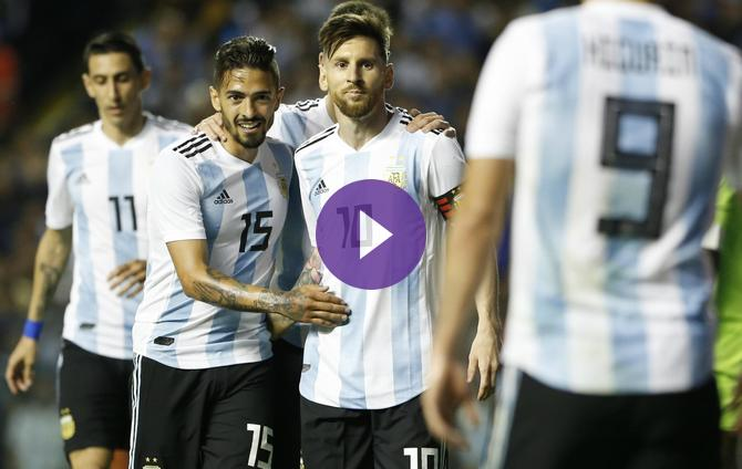 Lionel Messi Hat-Trick Fuels Argentina s World-Cup Warmup Rout Of Haiti 7a00b40a8f9b4