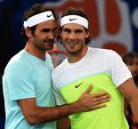 Rafa Nadal Does Double Over Roger Federer as Aces March On