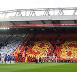 Liverpool squad pay respects at Hillsborough memorial