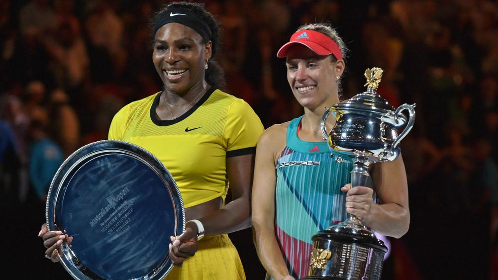Best day ever: Destanee hits with Serena, her inspiration