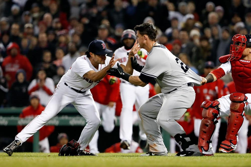 Punches thrown as Yankees-Red Sox rivalry heats up over aggressive slide