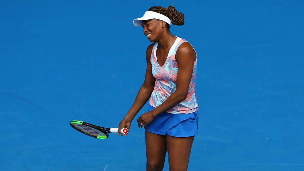 Venus Williams crashes out in round 1 of the Australian Open