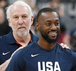 "Team USA Embrace ""Legend"" Popovich"