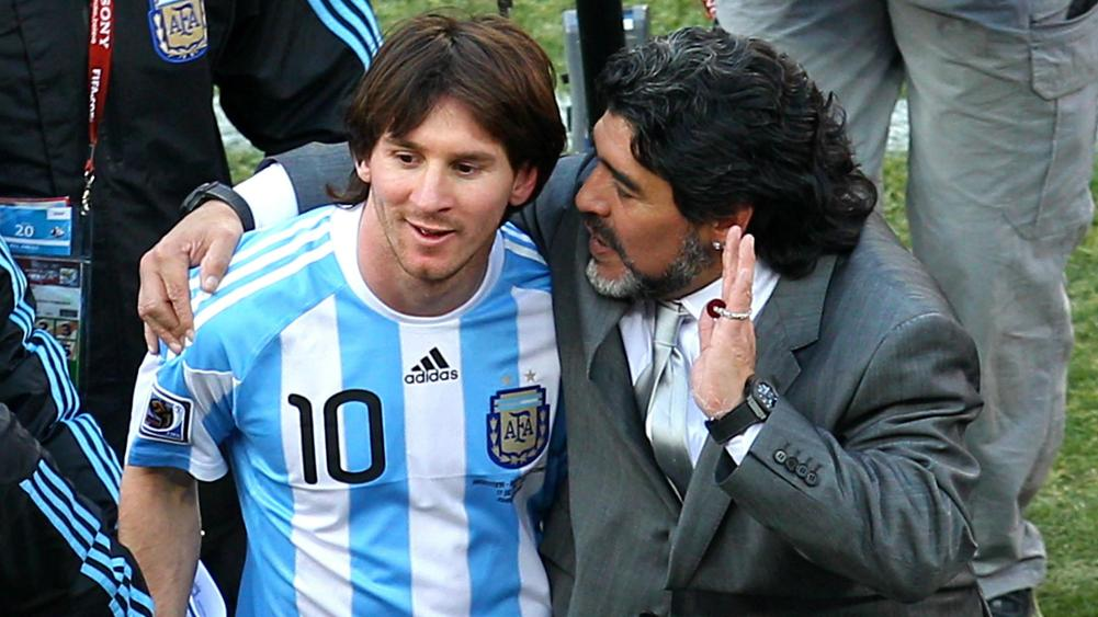 Lionel Messi and Diego Maradona - cropped