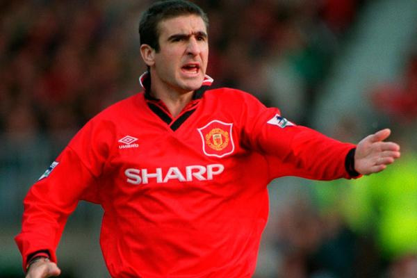 Eric Cantona (Manchester United): The enigmatic French talisman scored 8 goals for the red side between 1992 and 1997. Getty Images.