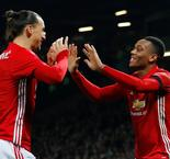 Martial et Ibrahimovic portent Manchester United