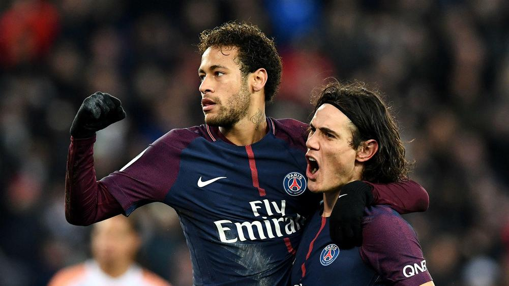 Image result for neymar and edinson cavani