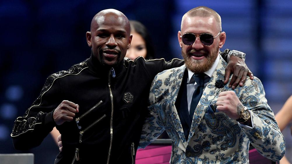 Floyd Mayweather Jr Conor McGregor - cropped