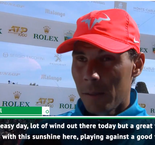 Nadal delighted with Dimitrov win