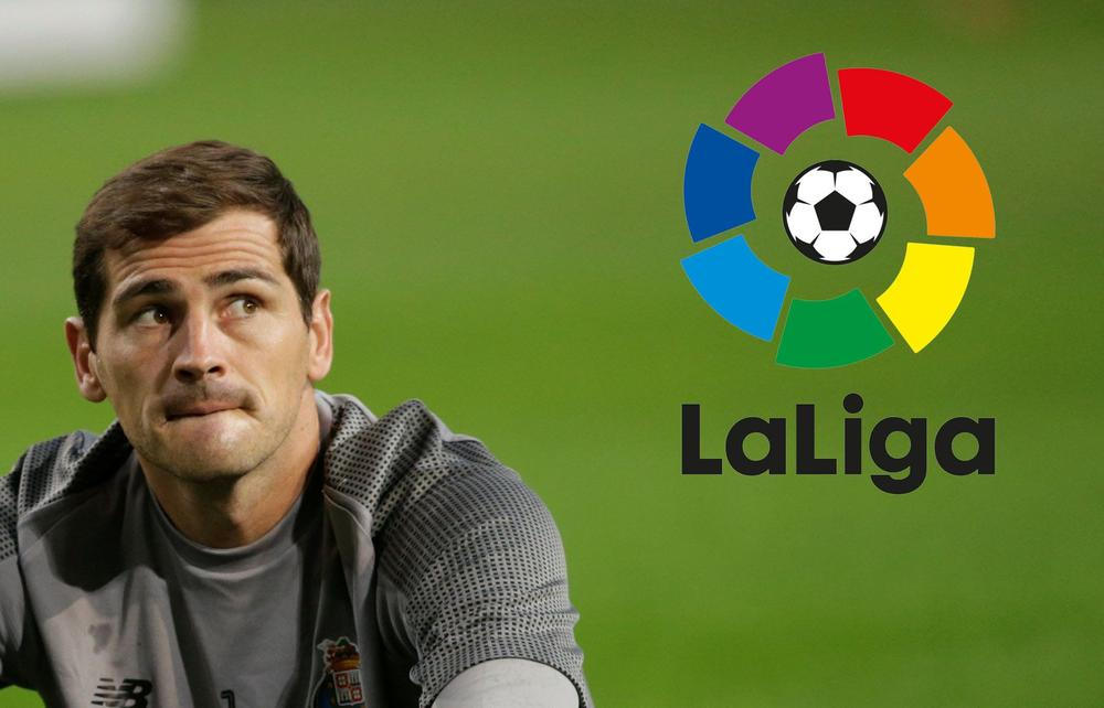 """Porto goalkeeper and Real Madridlegend Iker Casillas says he """"would love"""" to play inLa Ligaagain 