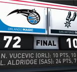 GAME RECAP: Spurs 108, Magic 72
