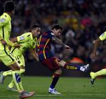 Mixed penalty fortunes for Messi in routine Barcelona win