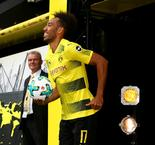 Aubameyang hat-trick breaks Dortmund's foreign scoring record