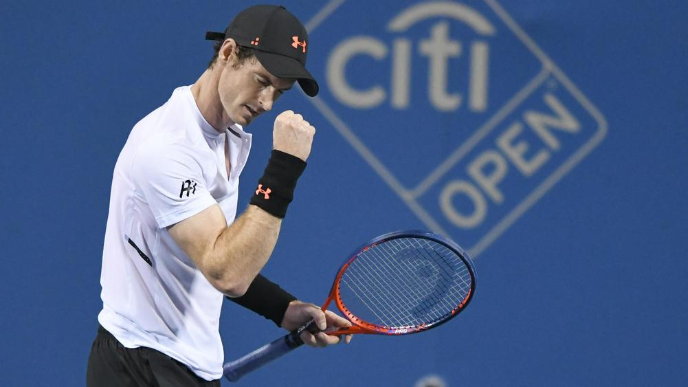 Rusty Andy Murray battles back to advance in Washington