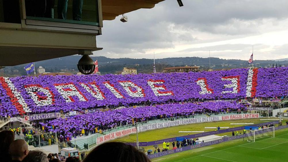 Fiorentina pays emotional Astori tributes