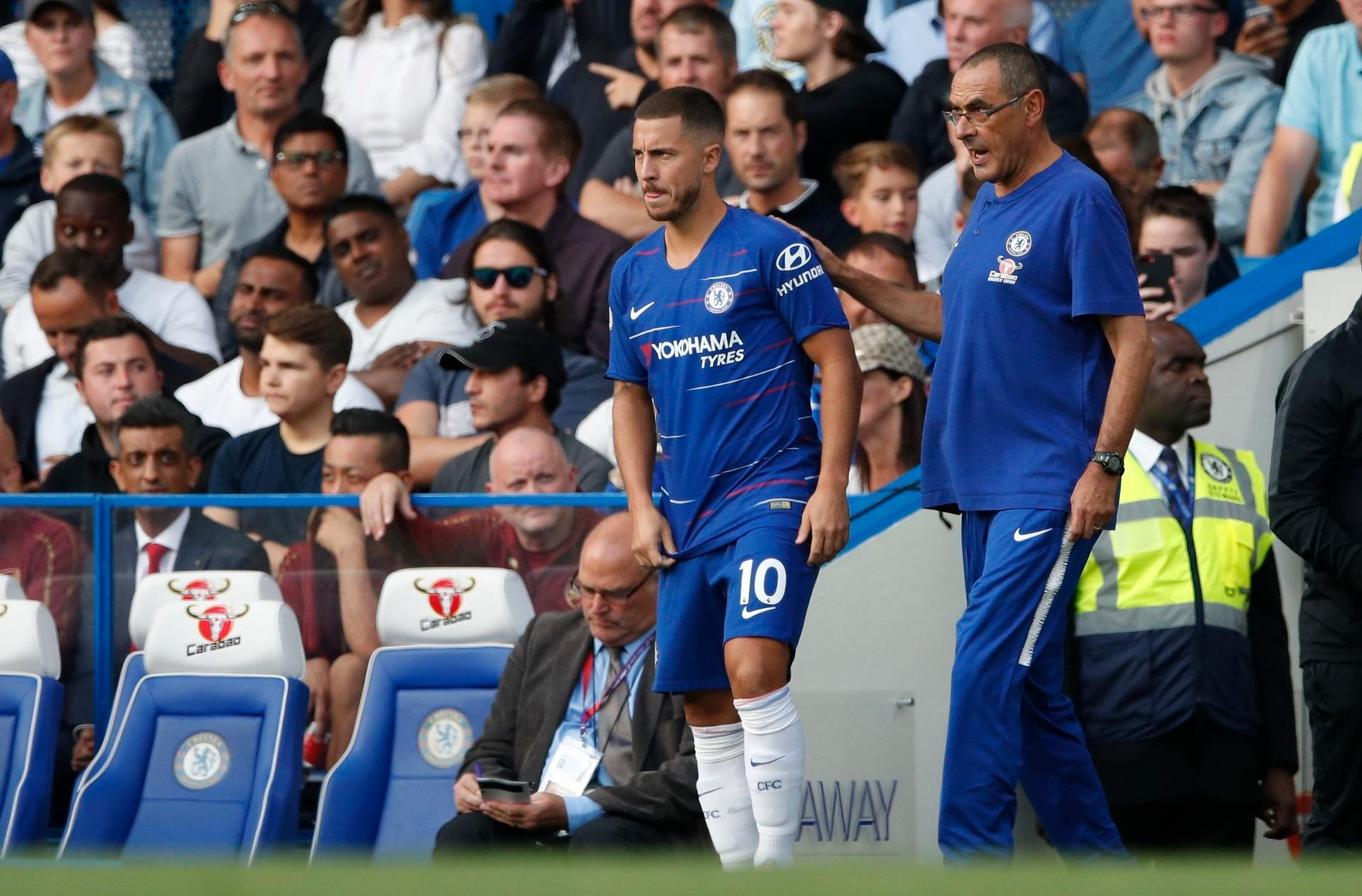 Chelsea's Eden Hazard plays down Real Madrid move