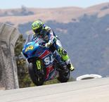Elias in Seventh Heaven With Laguna Seca Triumph