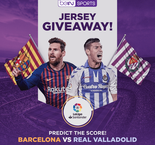 PREDICT THE SCORE! Win an authentic Valladolid jersey!