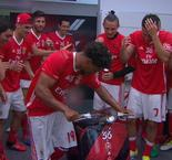 Benfica players in epic scooter title celebration