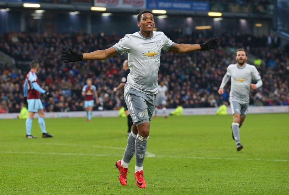 Anthony Martial, Burnley versus Manchester United