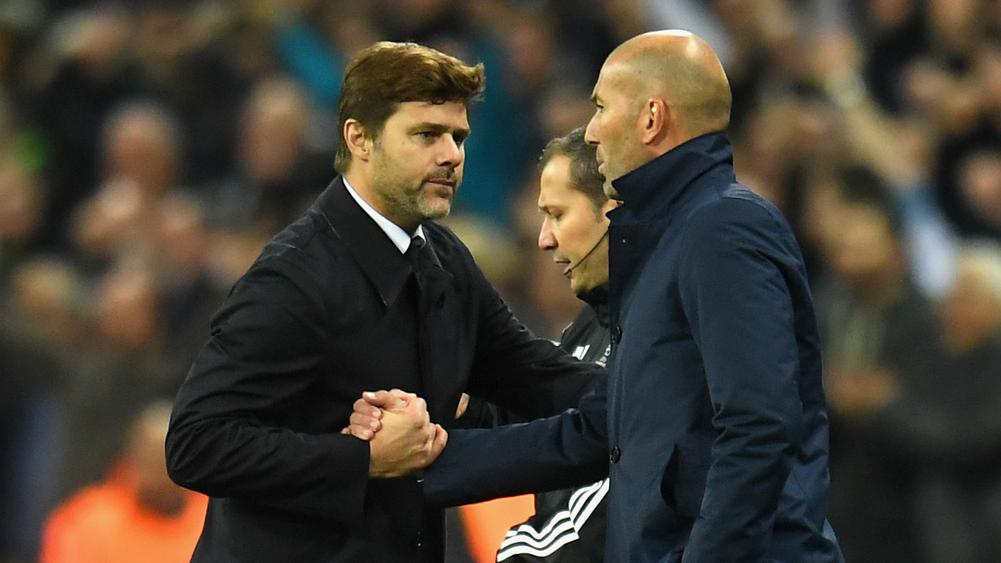 Mauricio Pochettino and Zinedine Zidane - cropped