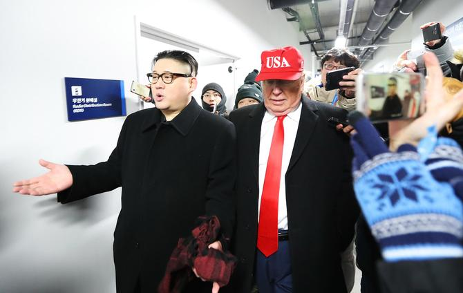 Winter Olympics 2018: Trump, Kim Jong-un impersonators thrown out of opening ceremony
