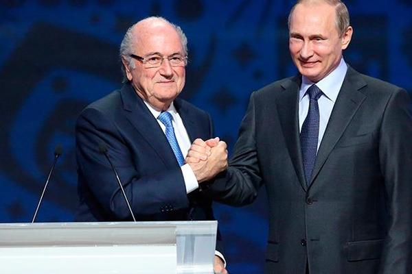 Vladimir Putin believes Sepp Blatter deserves Nobel Prize for work