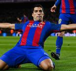 Suarez brings up 100 Barcelona goals, MSN reach 300