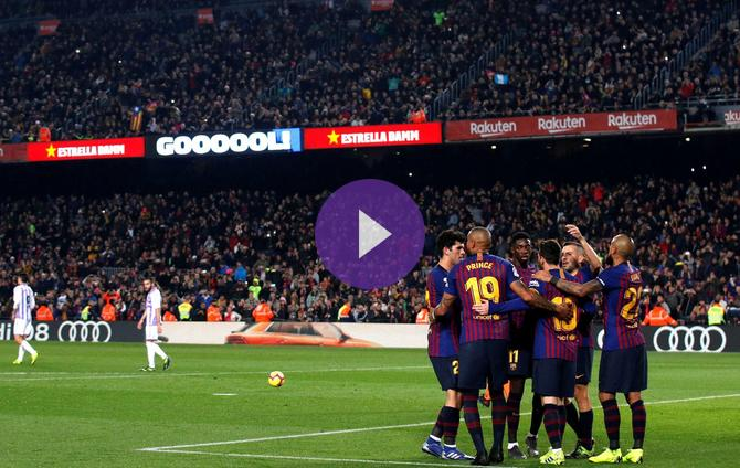 Getafe Real Valladolid Live Score Video Stream And H2h: Barcelona 1 Real Valladolid 0