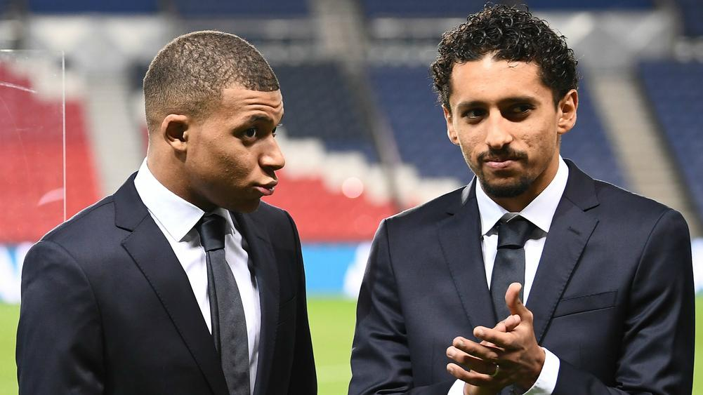 Kylian Mbappe and Marquinhos - cropped