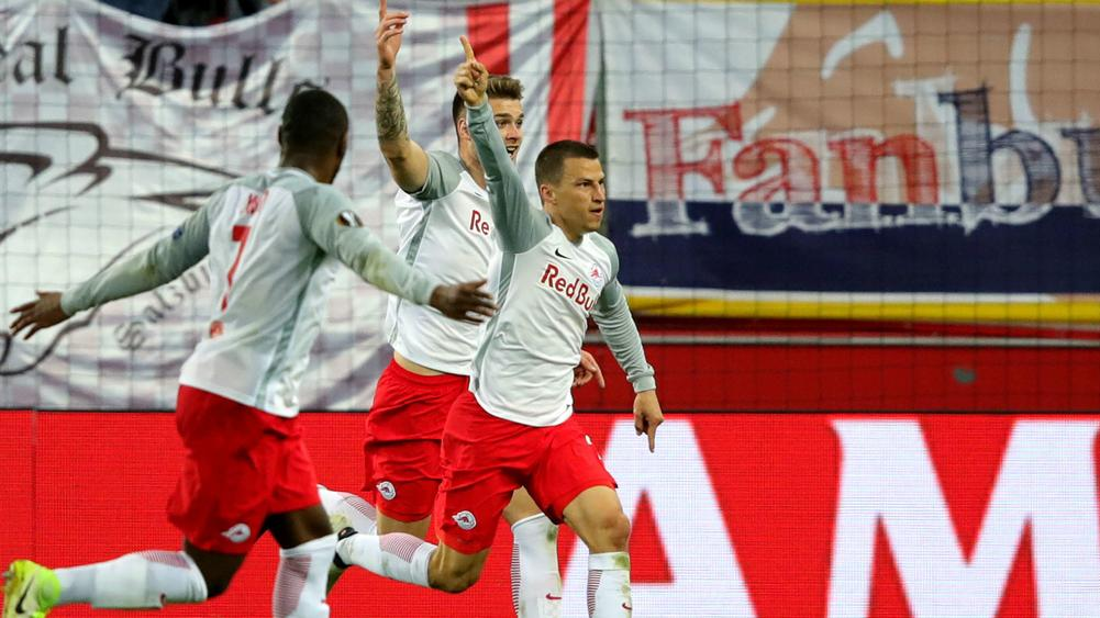 Salzburg scores 3 goals in 4 minutes to knock out Lazio