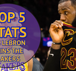 Top 5 stats as LeBron joins the Lakers