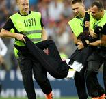 World Cup final interrupted by pitch invaders