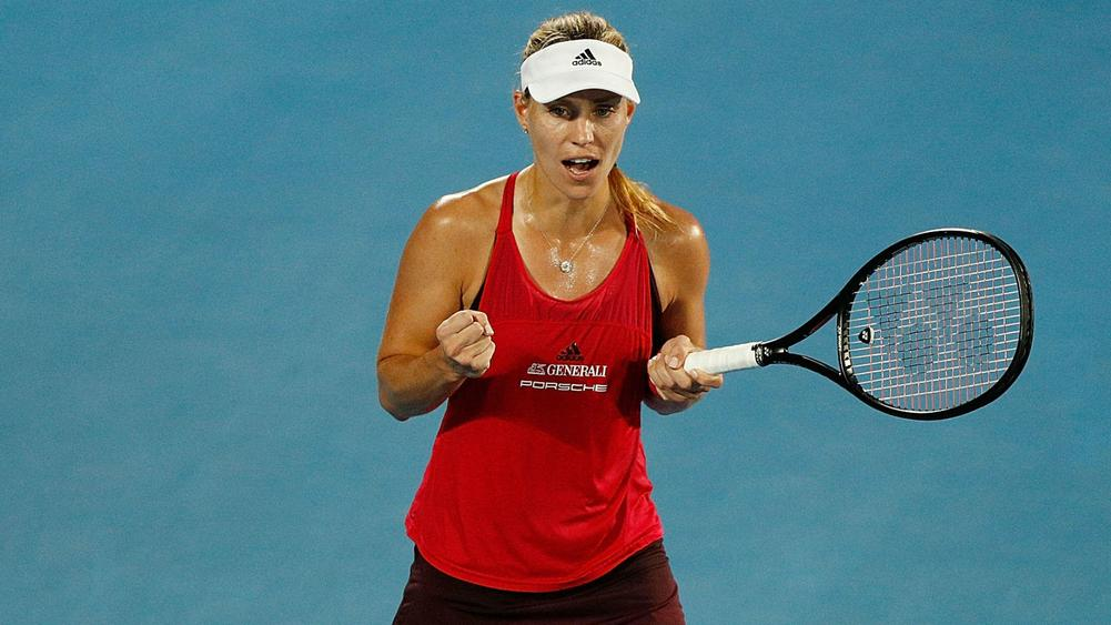 Kerber keeps going ahead of Barty battle